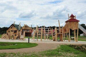 Speeltuinvan luxe vakantiepark buitenhof de leistert in Roggel, Brabant, Nederland