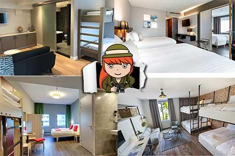 Overzicht hotels met familiekamer 6 personen of meer
