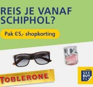 Tip: Vlieg je vanaf Schiphol? €5 shopkorting na douane!