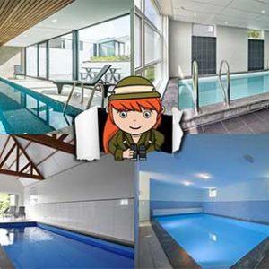 4x huisje met binnenzwembad in Nederland