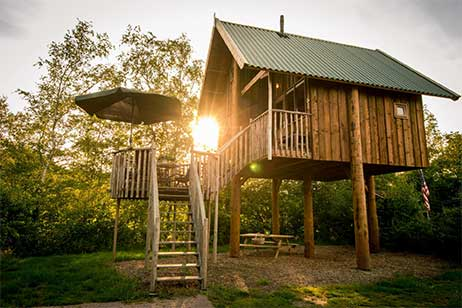 Boomhut overnachting bij Vakantiepark de Vossenburcht