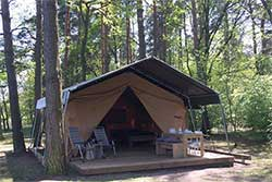 Glamping Safaritent bij Camping Am Blanksee in Duitsland