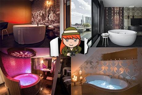5x hotelkamer met de mooiste bubbelbaden in Nederland