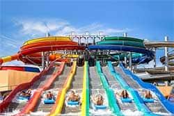 Rainbow Racer glijbaan bij Waterpark Therme Erding - Waterpark Duitsland