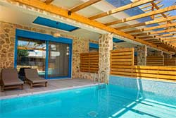 Hotelkamer met privézwembad - Hotel Haven Beach op Rhodos