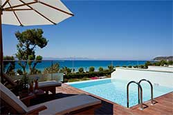 Hotelkamer met privézwembad en zeezicht - Elite Suites op Rhodos