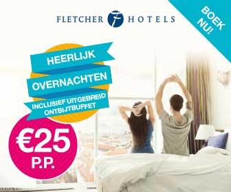 Fletcher aanbieding: 1 nacht incl. ontbijt: €25 p.p.