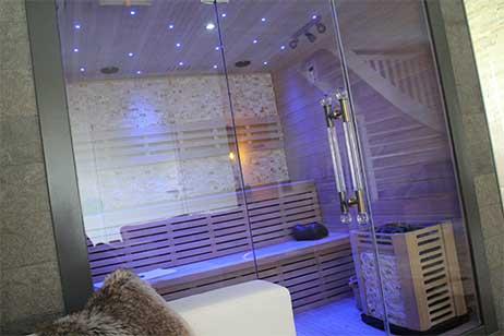 privé sauna met zwembad - sauna van privé wellenss byonz in Groningen