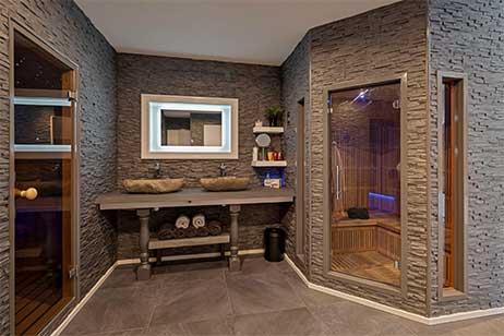 Privé sauna met zwembad - sauna bij sensses wellness in Boerakker - Groningen