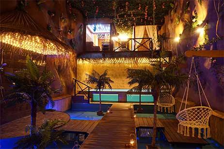 Privé sauna met zwembad - interieur van tropicana privé spa