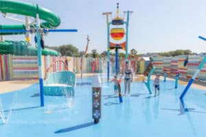 Spraypark op camping de Julianahoeve in Renesse