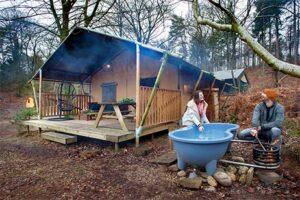Bijzonder overnachten op de Veluwe - Glamping met hot tub bij Buitenplaats Beekhuizen