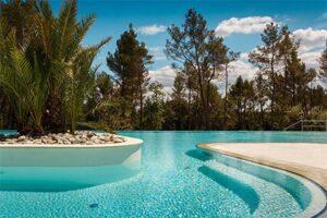 Boutique camping Santa Marina met stacaravans met eigen bubbelbad - zwembad