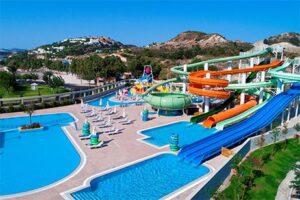 Amanda Colossos Resort Hotel met aquapark op Rhodos Griekenland