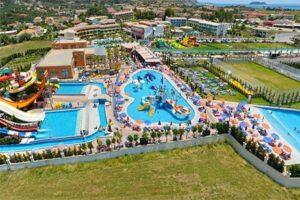 Hotel met glijbanen aquapark Griekenland - Caretta Beach Hotel Waterpark op Zakynthos