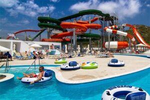 Splashworld Sun Palace Hotel met glijbanen aquapark op Rhodos