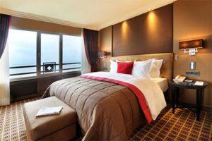 Grand Hotel Huis ter Duin - Luxe hotel aan zee in Noordwijk - hotelkamer met zeezicht