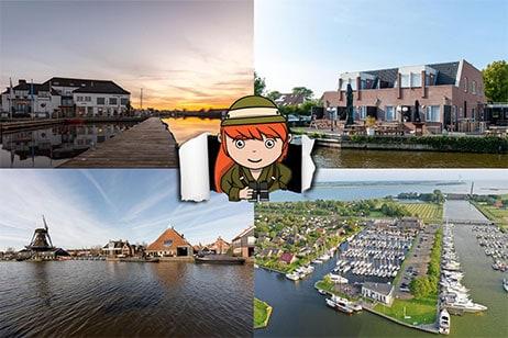 6x hotels in Friesland aan het water
